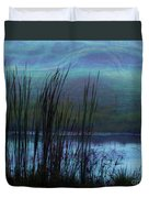 Cattails In Mist Duvet Cover by Judi Bagwell