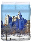 Central Park Duvet Cover by Chuck Staley