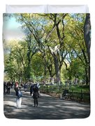 CENTRAL PARK MALL Duvet Cover by ROB HANS