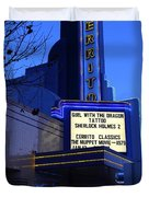 Cerrito Theater In El Cerrito California . 7d11035 Duvet Cover by Wingsdomain Art and Photography
