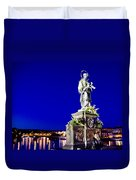 Charles Bridge Statue Of St John Of Nepomuk     Duvet Cover by Jon Berghoff