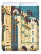 Chateau de Cheverny Duvet Cover by Nomad Art And  Design