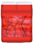 Cheery Blossom Duvet Cover by Anil Nene