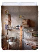 Chef - Baker - The Bread Oven Duvet Cover by Mike Savad