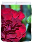 Cherry Red Carnation Duvet Cover by Sandi OReilly