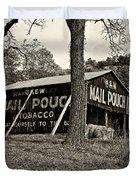 Chew Mail Pouch Sepia Duvet Cover by Steve Harrington