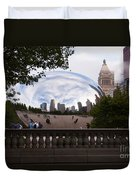 Chicago Cloud Gate Bean Sculpture Duvet Cover by Paul Velgos