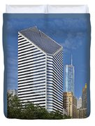 Chicago Crain Communications Building - Former Smurfit-stone Duvet Cover by Christine Till