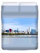 Chicago Panarama Skyline Duvet Cover by Paul Velgos
