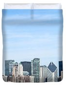 Chicago Panoramic Skyline High Resolution Picture Duvet Cover by Paul Velgos