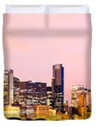 Chicago Skyline Panoramic Duvet Cover by Paul Velgos