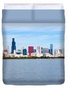 Chicago Skyline Duvet Cover by Paul Velgos