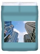 Chicago - Skyscrapers Are Looking Down On Us Duvet Cover by Christine Till