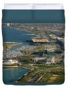 Chicagos Lakefront Museum Campus Duvet Cover by Steve Gadomski