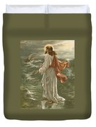 Christ Walking On The Waters Duvet Cover by John Lawson