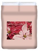 Christmas Poinsettias Duvet Cover by Michael Peychich