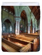 Church Benches Duvet Cover by Adrian Evans