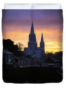 Church In A Town, Ireland Duvet Cover by The Irish Image Collection