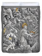 Church Of St James The Greater Prague - Stucco Bas-relief Duvet Cover by Christine Till