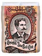Cincinnati Baseball Duvet Cover by George Pedro