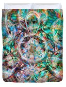 Circles Of Life Duvet Cover by Mo T