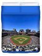 Citifield Duvet Cover by Rick Berk