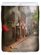 City - Rhode Island - Newport - Journey  Duvet Cover by Mike Savad