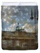 City-Art BERLIN Brandenburger Tor II Duvet Cover by Melanie Viola