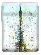 City-art Paris Eiffel Tower II Duvet Cover by Melanie Viola
