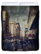City Sidewalks Duvet Cover by Laurie Search