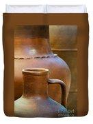 Clay Pottery Duvet Cover by Carlos Caetano