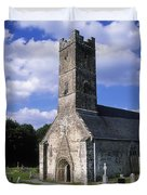 Clonfert Cathedral, Clonfert, Co Duvet Cover by The Irish Image Collection