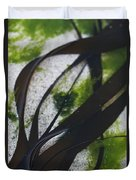 Close-up Of Seaweed In Water Duvet Cover by Axiom Photographic