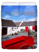 Co Donegal, Ireland Cottage Near Duvet Cover by The Irish Image Collection
