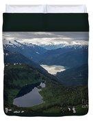 Coastal Range Tranquility Duvet Cover by Mike Reid