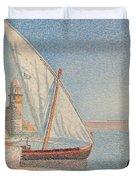 Collioure Les Balancelles Duvet Cover by Paul Signac