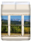 Colorado Indian Peaks Autumn Rustic Window View Duvet Cover by James BO  Insogna