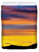 Colorado Sunrise -vertical Duvet Cover by Beth Riser