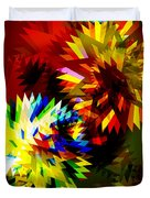 Colorful Blade Duvet Cover by Atiketta Sangasaeng