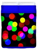 Colorful Bokeh Duvet Cover by Paul Ge