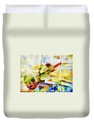 Colorful Music Duvet Cover by David Ridley