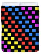 Colorful Squares Duvet Cover by Louisa Knight
