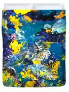 Colorful tropical fish Duvet Cover by Elena Elisseeva