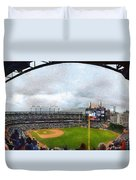 Comerica Park Home Of The Detroit Tigers Duvet Cover by Michelle Calkins
