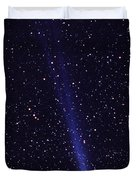 Comet Hyakutake Duvet Cover by Jerry Schad and Photo Researchers