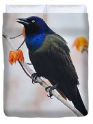 Common Grackle Duvet Cover by Tony Beck