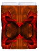 Conjoint - Rust Duvet Cover by Christopher Gaston