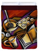 Cooking Duvet Cover by Leon Zernitsky