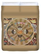 Copernican World System, 17th Century Duvet Cover by Science Source
