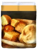 Cornbread And Rolls Duvet Cover by Susan Savad